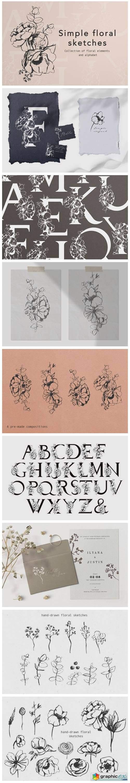 Floral Alphabet Design
