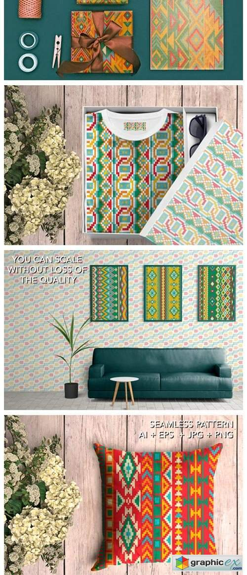 16 Ethnic Seamless Patterns - Set 1