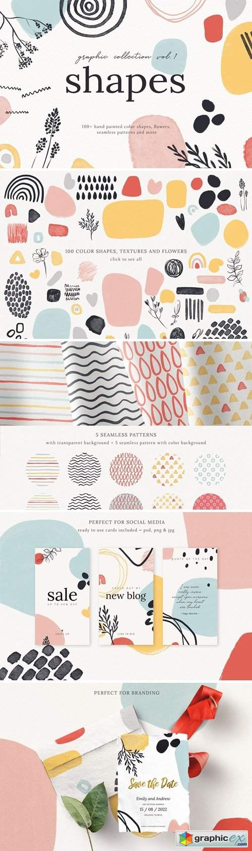 Abstract Shapes Print Graphics Vol.1