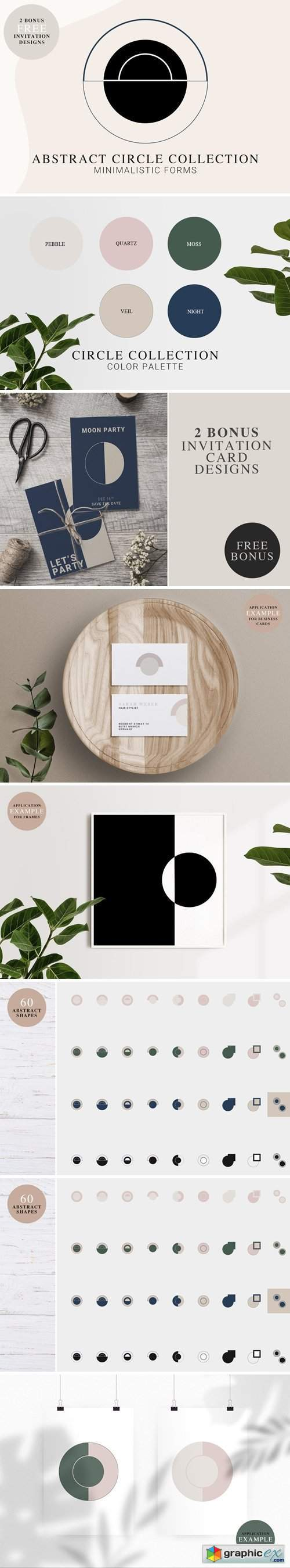 Abstract CIRCLE Shapes Kit