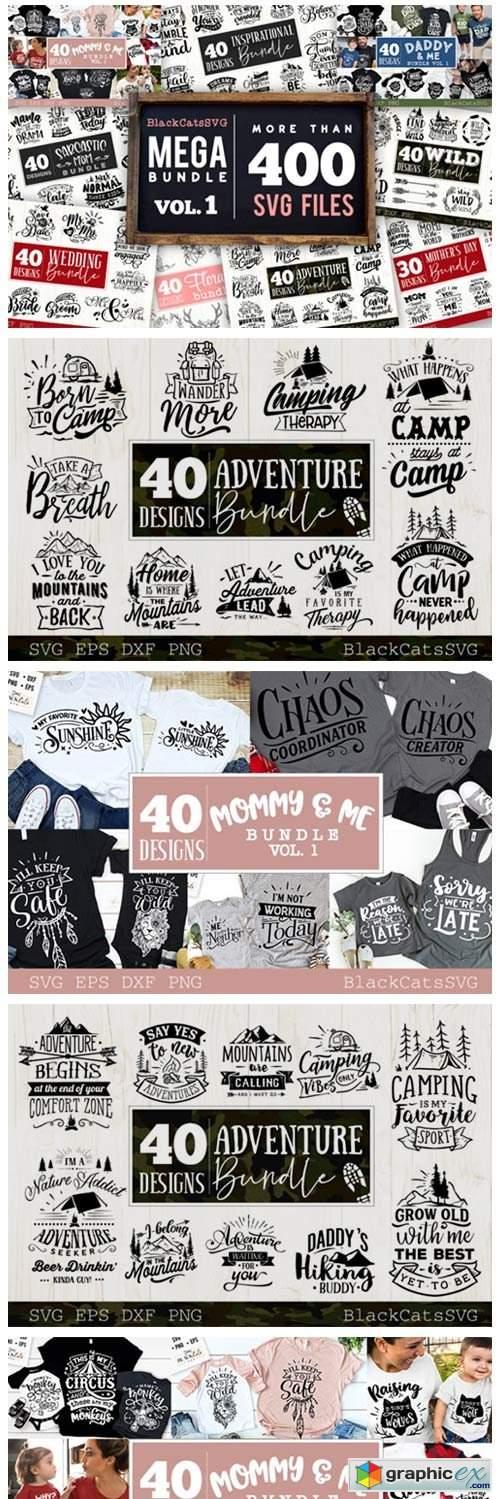 Mega Bundle 400 Designs Vol 1
