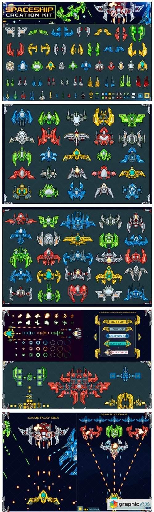 Spaceship Creation Kit - Game Assets