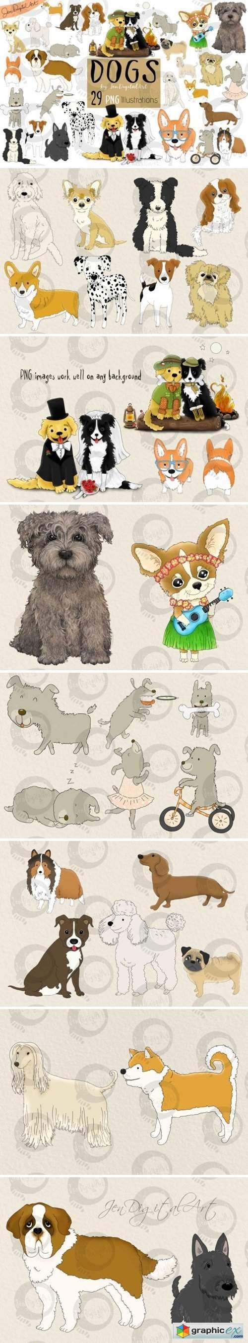 Dogs - Big Graphics Set