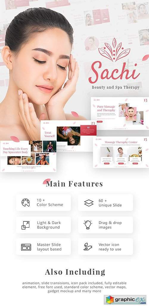 Sachi Creative Animated Beauty Spa Therapy PowerPoint Presentation Template