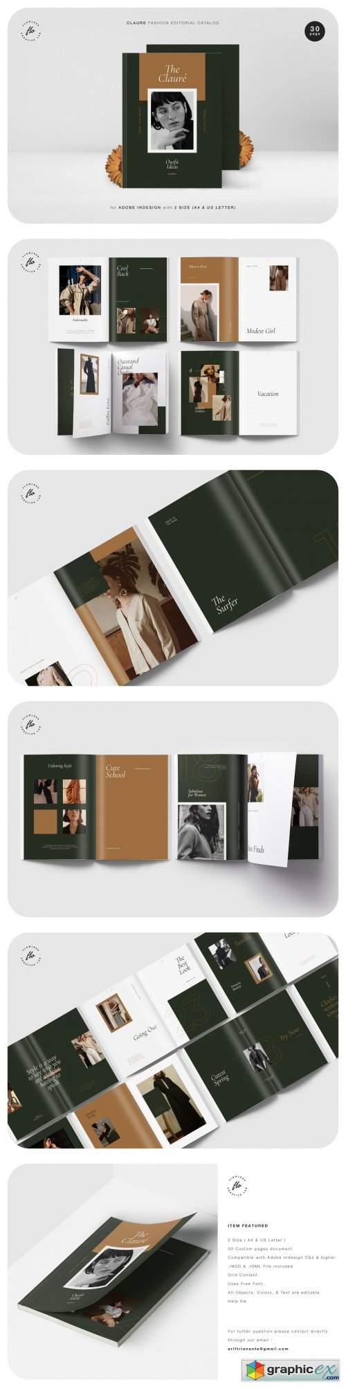 CLAURE Fashion Editorial Catalog