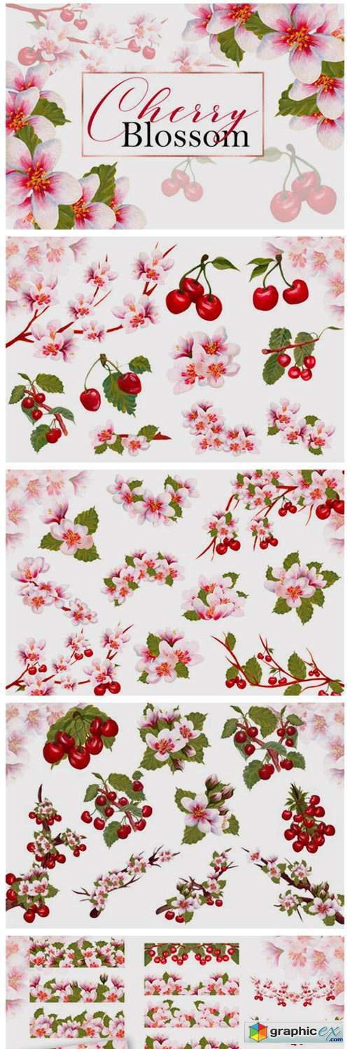 Acrylic Cherry Blossom Collection