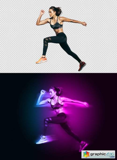 Motion and Dual Lighting Photo Effect Template