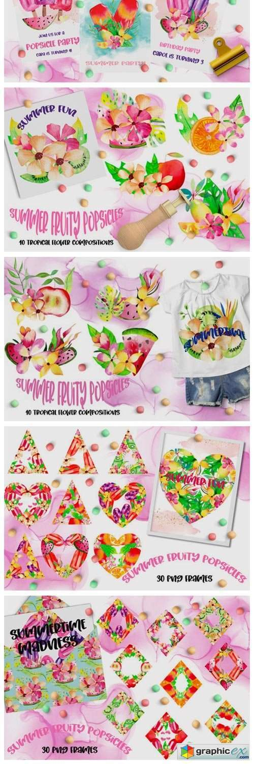 Summer Fruity Popsicles Collections