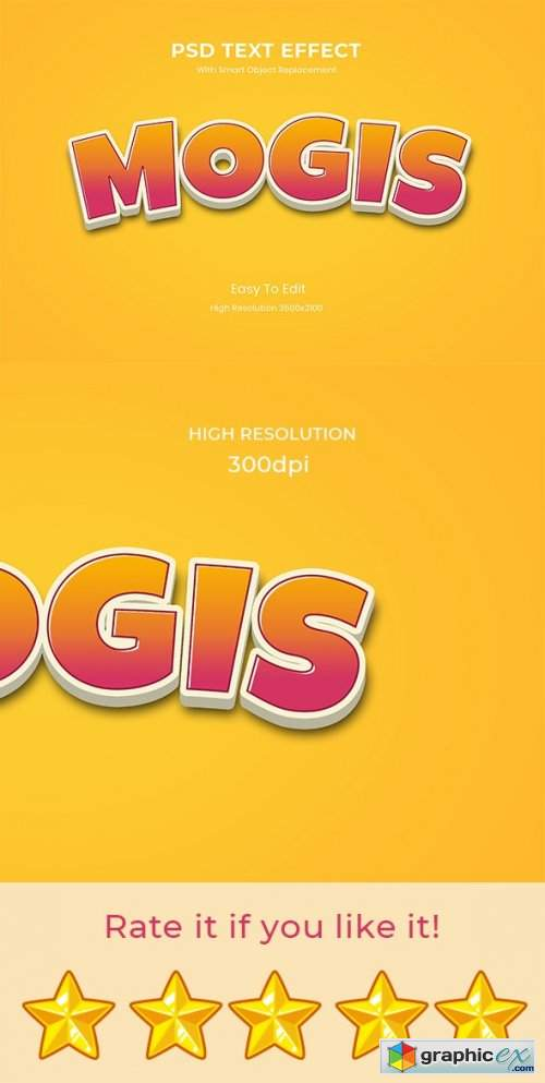 Mogis - 3D Game Logo Text Effect