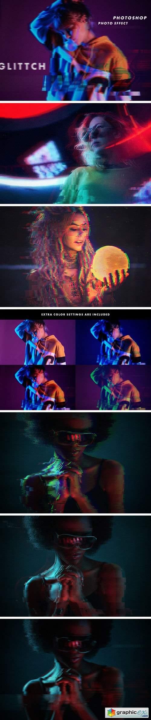 Glitch - Photoshop Photo Effects