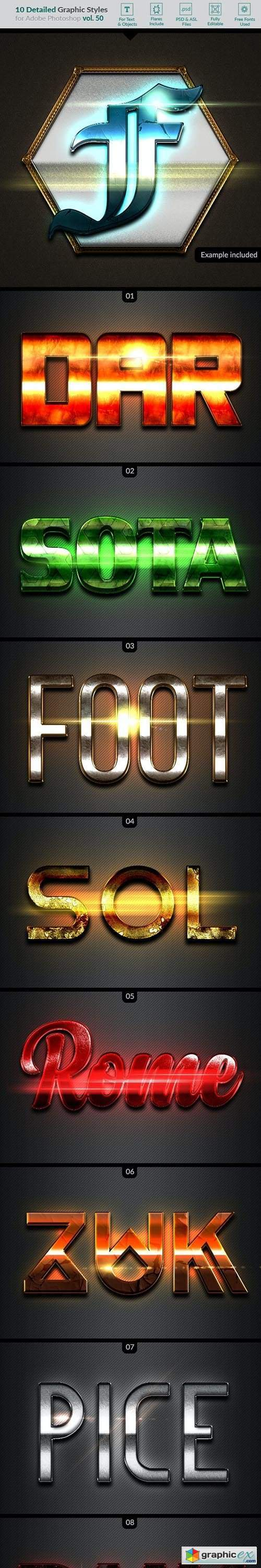 10 Text Effects Vol. 50