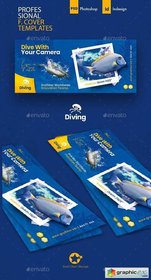 Ocean Diving Cover Templates