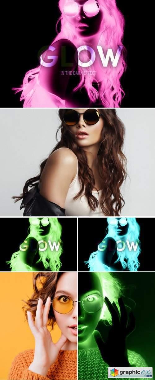 Glow in the Dark Effect Mockup