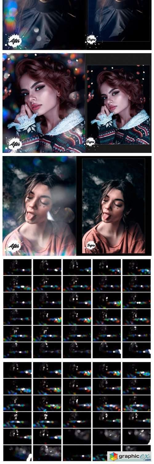 60 Dreamy Light Leak Rainbow Bokeh