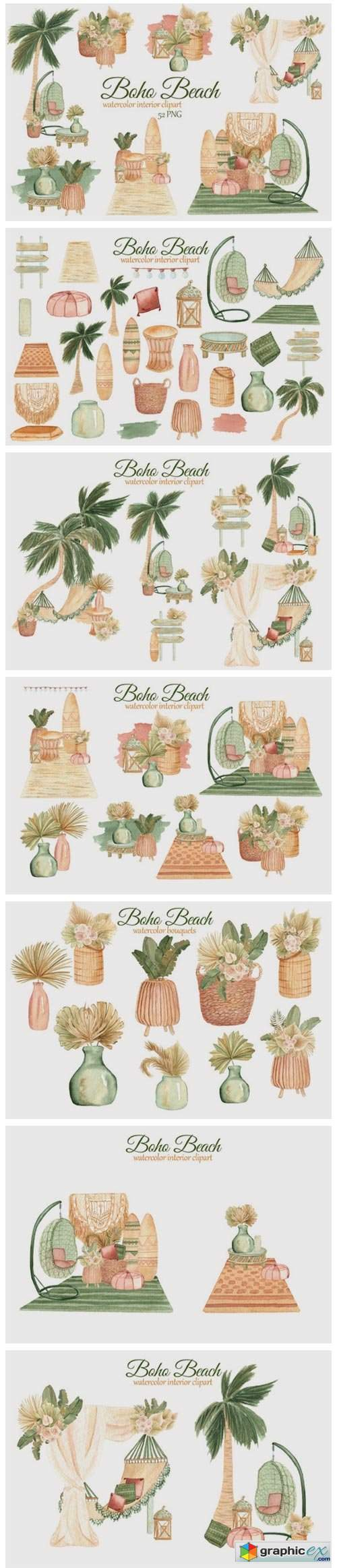 Boho Beach House Clipart