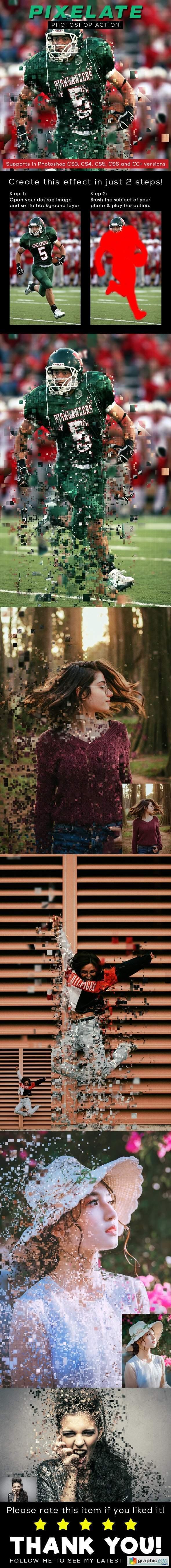 Pixelate Photoshop Action 26304514