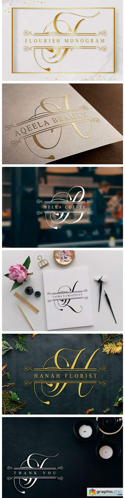 Flourish Monogram Font