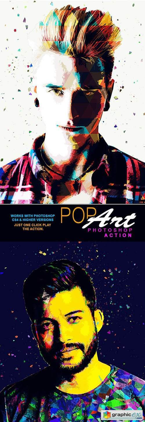 Pop Art Photoshop Action 26433420