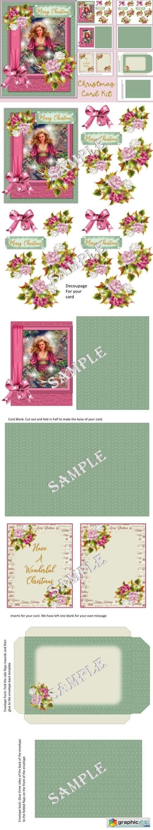 Christmas Card Kit SVG, PNG & JPEG