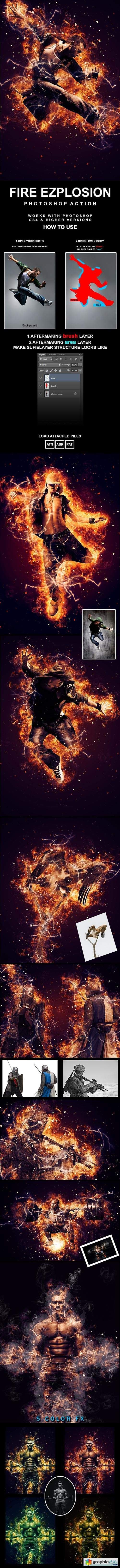 Fire Explosion Photoshop Action