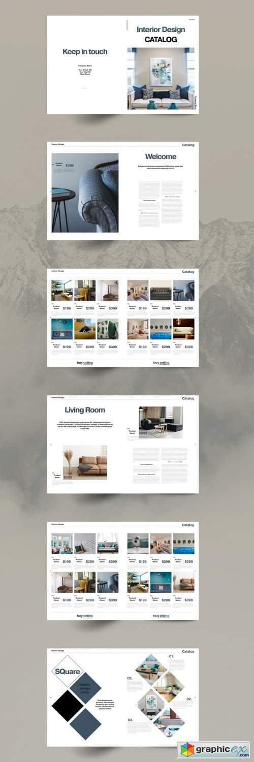 Interior Design Catalog Layout