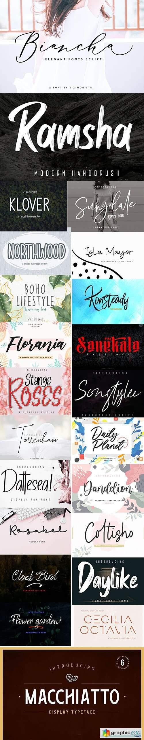 Creative Fonts Pack [June-2020] - 23 Fonts