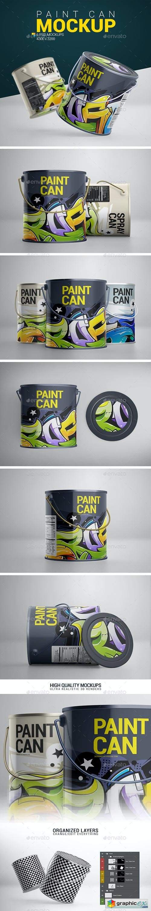 Paint Can Mockup 24030529