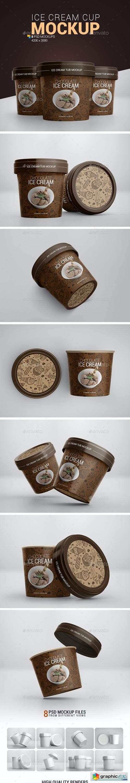 Ice Cream Cup Mockup 24467170