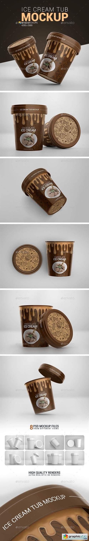 Ice Cream Tub Mockup