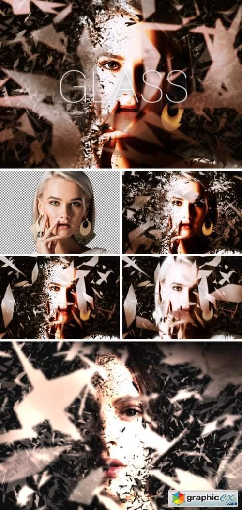 Shattered Glass Dispersion Effect Mockup