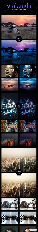 7 Cinematic Lightroom Presets - Wakanda Inspired Pack (+ Mobile Version)