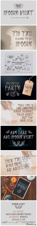 Spooky Night Font