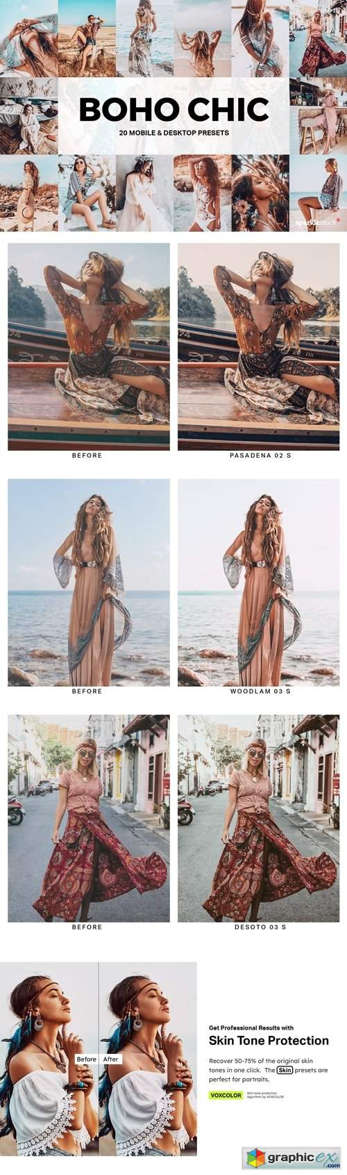 20 Boho Chic Lightroom Presets and LUTs