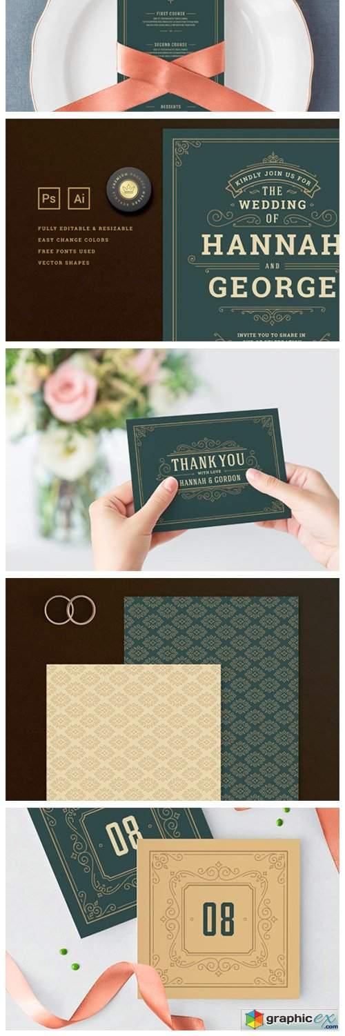Wedding Invitation Suite 4626771