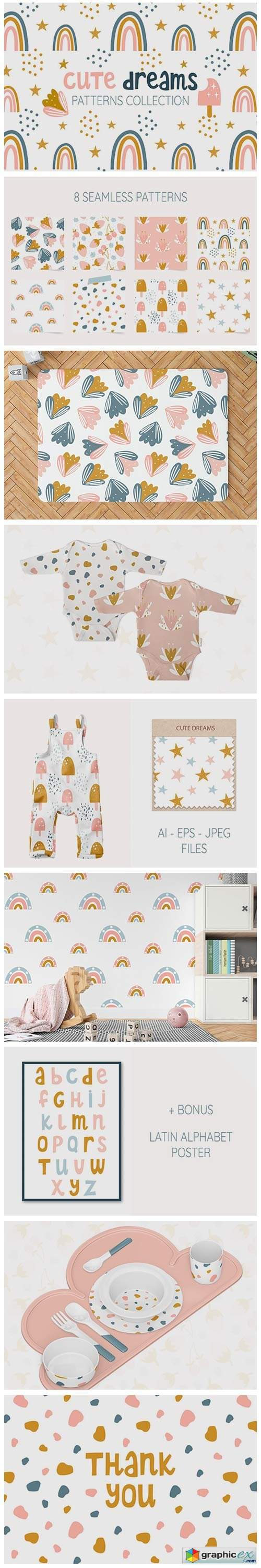 Cute Dreams. Patterns for Kids