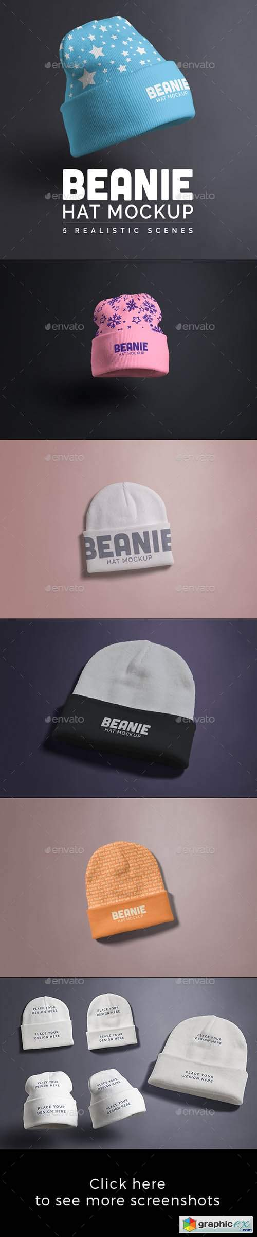 Beanie Hat Mock-up
