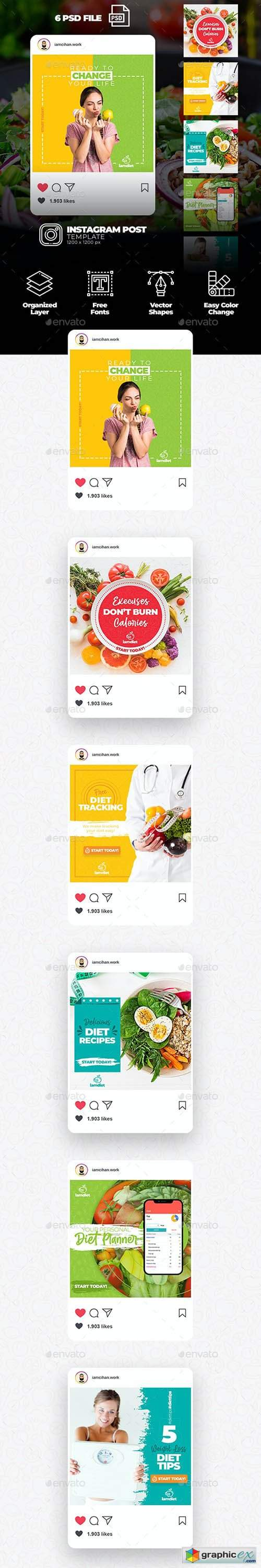 Diet - Instagram Post Template