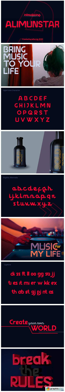 Alimunstar Font