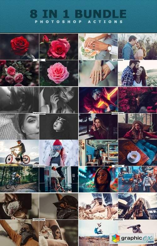 8 IN 1 Photoshop Actions Bundle