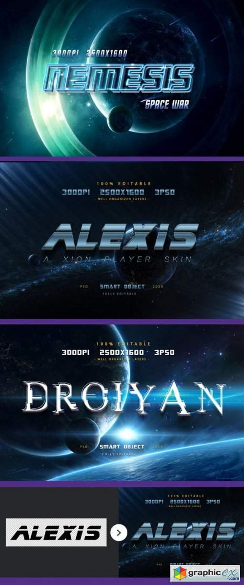 Sci-fi Game Styles - Space Trip Text Effects-Planet Photoshop Text Effects
