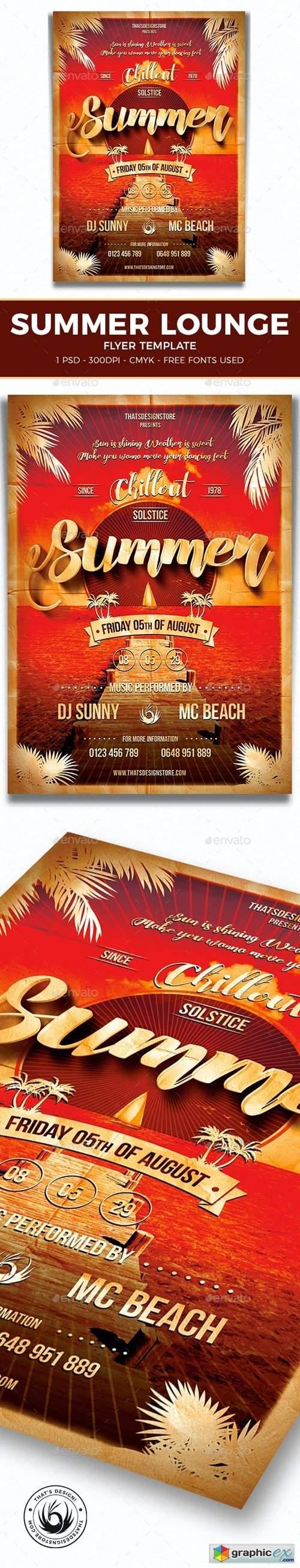 Summer Lounge Flyer Template V1 7972361