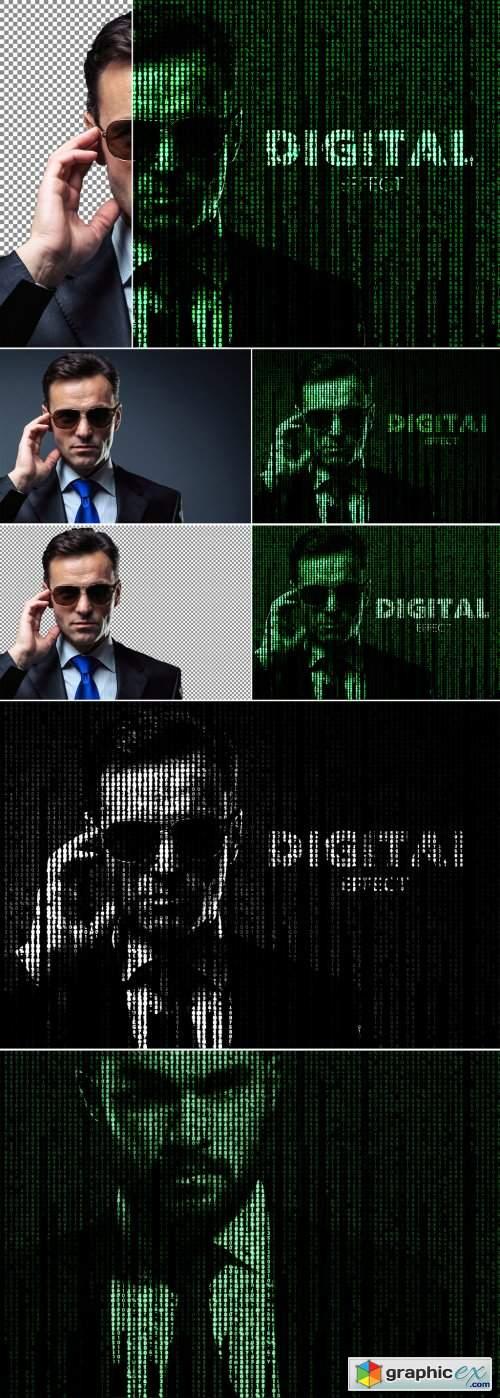 Digital Text Overlay Effect