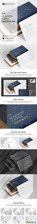 UK Business Cards Mockup 08