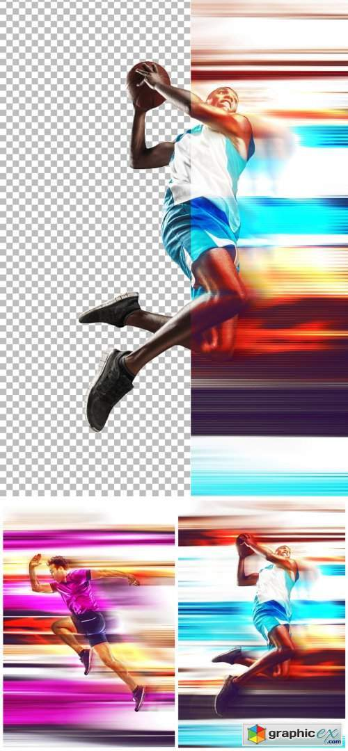 Photo Speed poster Effect Mockup