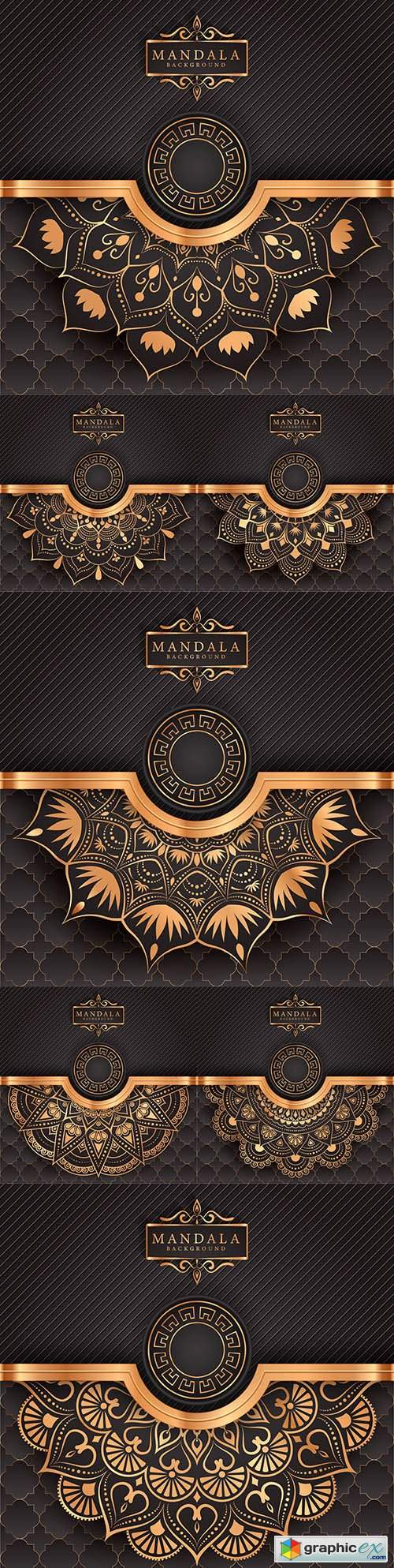 Luxury mandala decorative ethnic background element