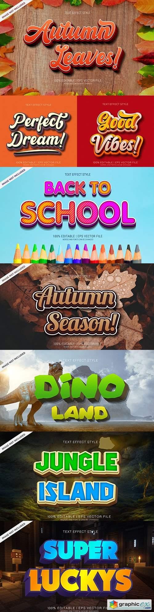 Editable font effect text collection illustration design 153