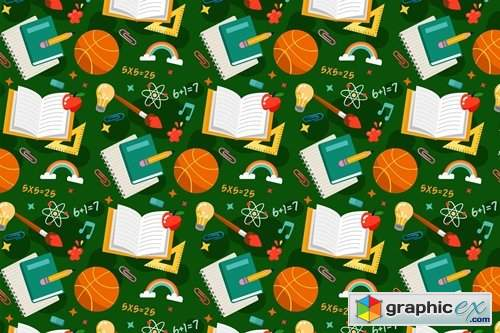 School Pattern Background