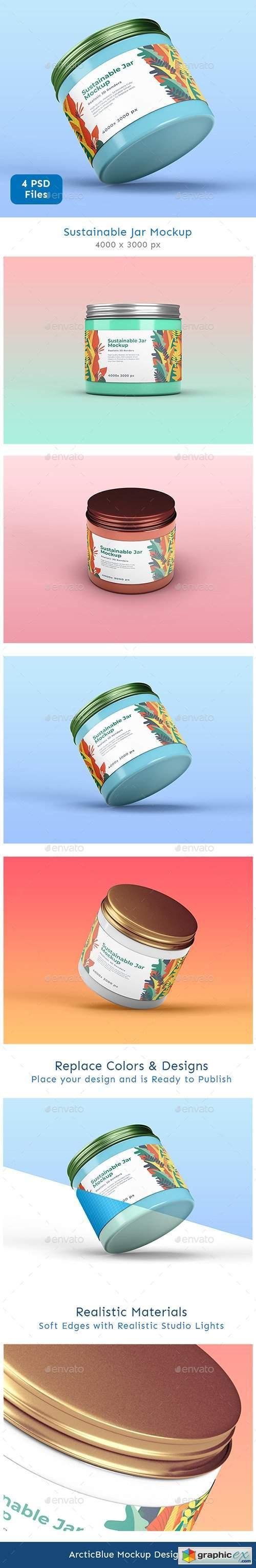 Sustainable Jar Mockup