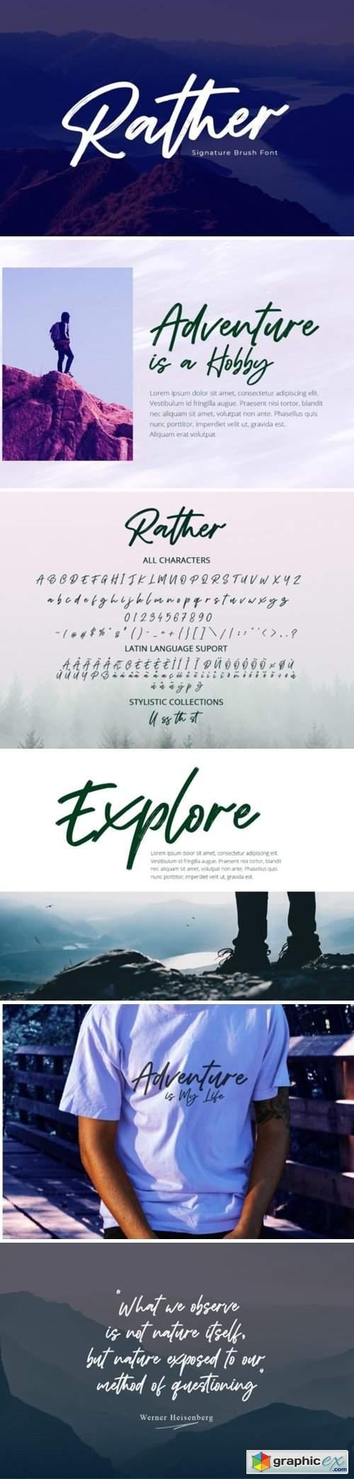 Rather Font