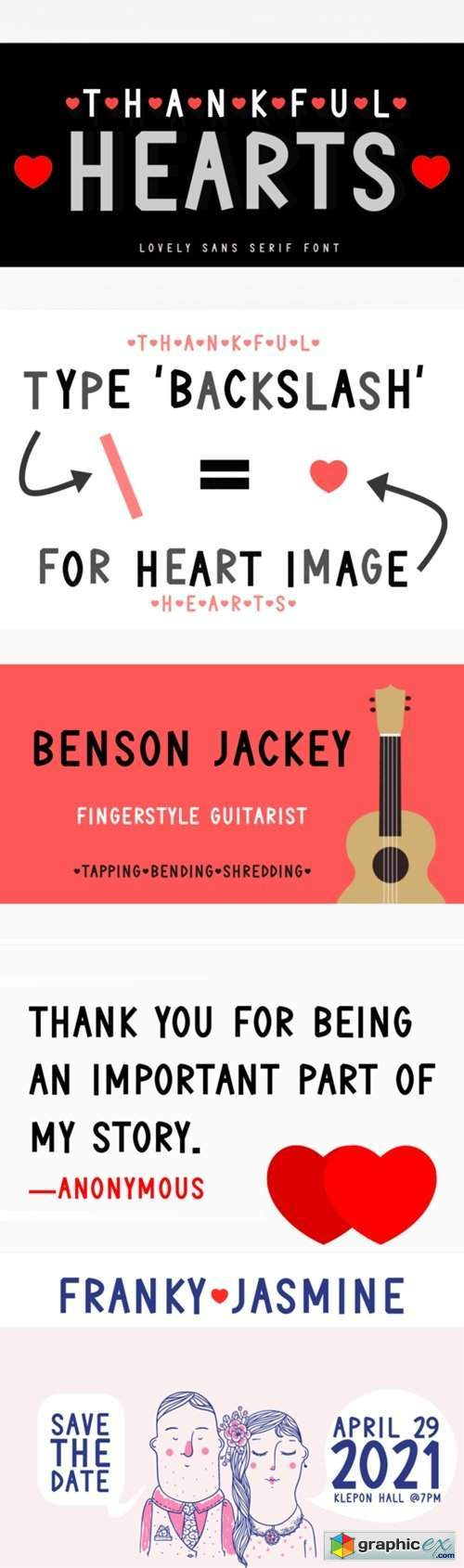 Thankful Hearts Font